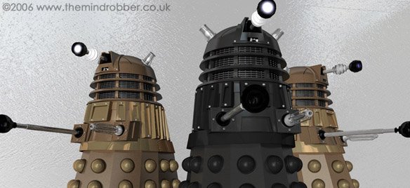 New Series Black Dalek and Bronze Daleks