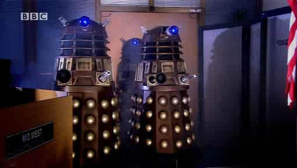 Daleks attack UNIT