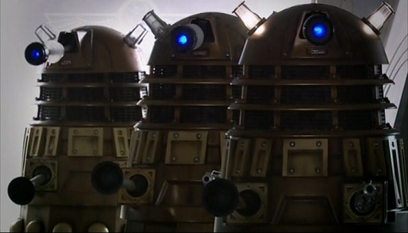 Daleks inside UNIT