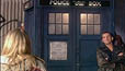 Doctor and Rose outside TARDIS