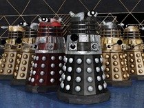 Dalek Supreme Black Dalek Red Dalek