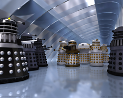 Imperial Daleks Renegade Daleks Battle