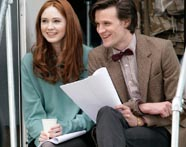 Matt Smith as the Eleventh Doctor and Karen Gillan as Amy Pond