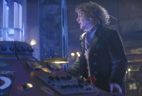 Paul McGann Doctor Who at TARDIS console