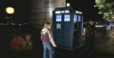 Rose and the Doctor outside the TARDIS