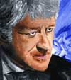 Medium: Paint. My first and only attempt at a portrait in paint. Its supposed to be Jon Pertwee.
