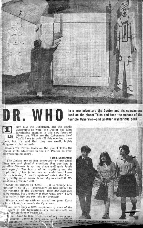 Power of the Daleks Radio Times Clipping