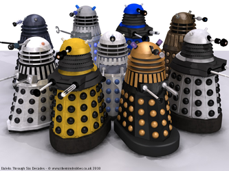 Dalek variants comparison group shot