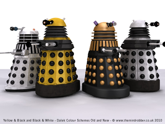 New 2010 Daleks with old Daleks Comparison