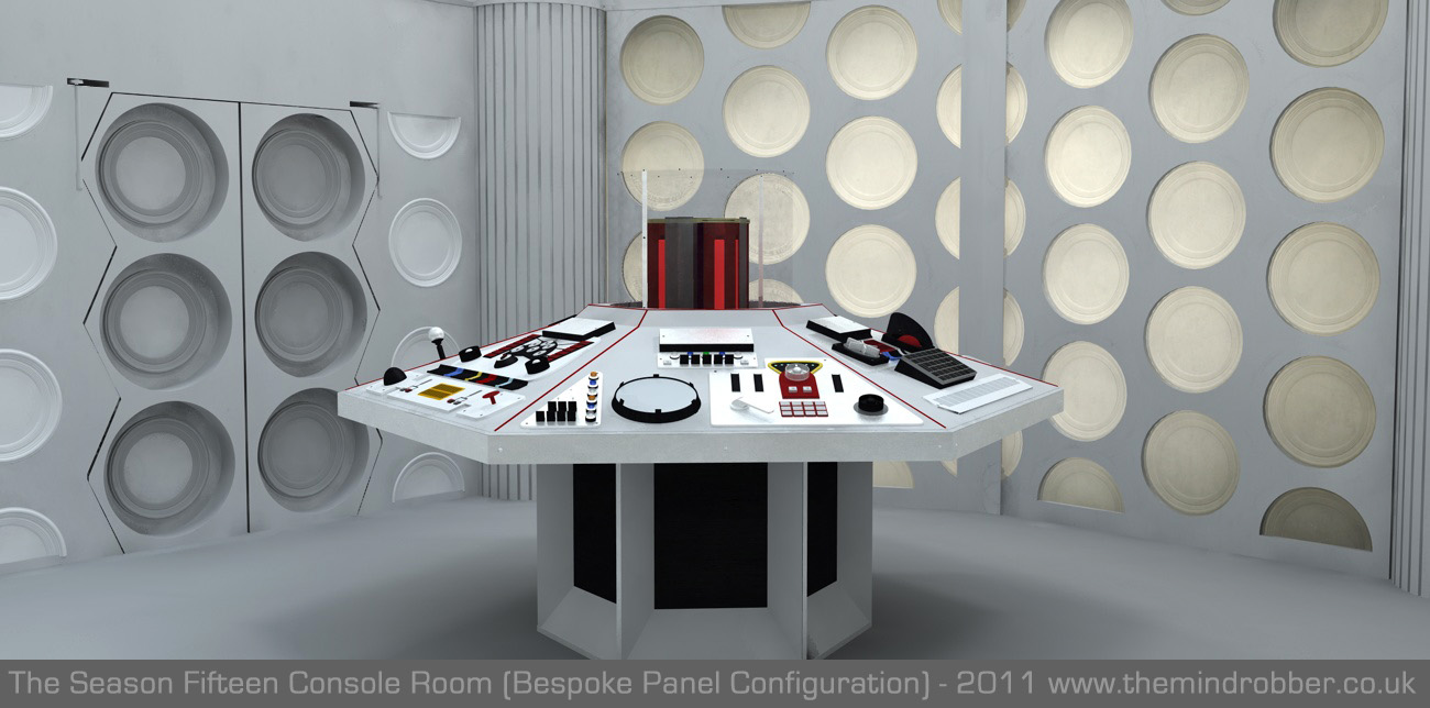 Doctor Who 3d Tardis Console Room Classic Console Model