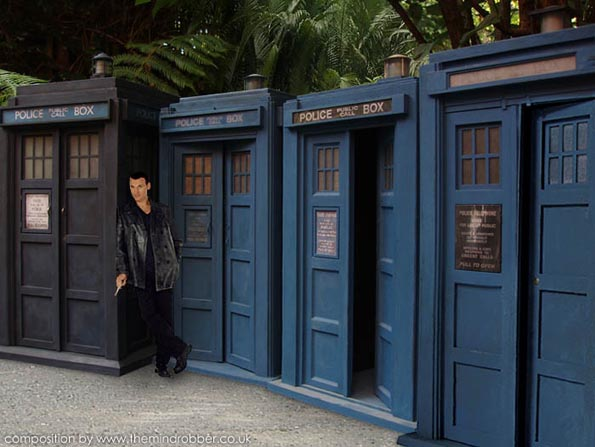 The main difference between the TV prop and the film version was that the doors opened outwards. The doors and interior of the prop were shown to be painted ... & Doctor Who A History of the TARDIS Police Box Prop and its Modifications